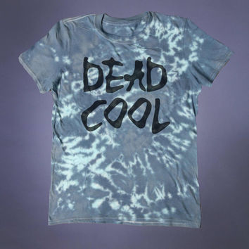 Soft Grunge Shirt Dead Cool Slogan Tee Punk Emo Creepy Cute Tumblr T-shirt