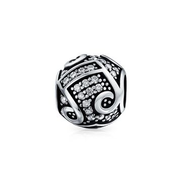 Music Melody Notes Table G Clef Musician Charm Bead Sterling Silver