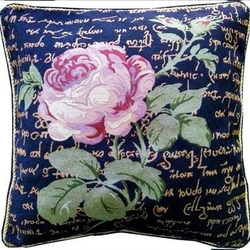 Tache Solitary Rose 18 x 18 Inch  Throw Cushion Pillow Cover (15705)