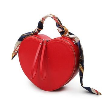 Peach Heart  Handbag