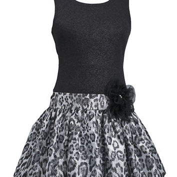 Iris & Ivy Girls 7-16 Leopard Skirt Party Dress
