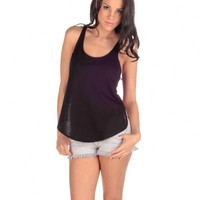 Vintage Havana High Back Mesh Tank - Black