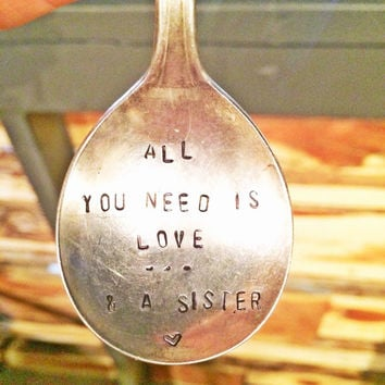 Stamped Spoon - Hanging Spoon - Holiday Gifts - sister gift, Gifts for Winos, Christmas Gift Ideas, Antique Silver Plate, Unique Gifts