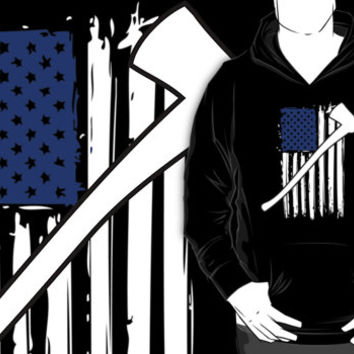Cool 'Distressed American Flag and Fire Axe' T-shirts, Hoodies, Accessories and Gifts