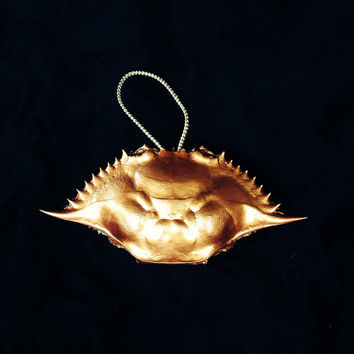 Blue Crab Christmas Ornaments a Hand Painted in Copper