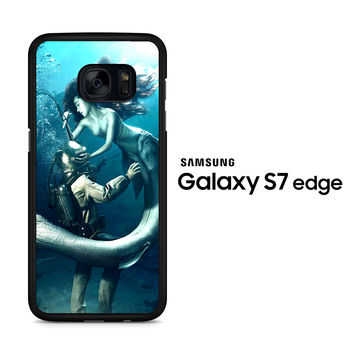 Diver and The Mermaid Samsung Galaxy S7 Edge Case