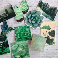 green theme aesthetic sticker pack