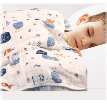 """Multifunctional Aden Anais Baby Double Layers Blanket for Spring Autumn Infant Swaddle Bedding Quilt Travel Towel Size 47*47"""""""