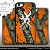 Browning Cutter Orange Camo iPhone 4 5 5C 6 PLUS Case Cover Rubber Silicone Not actual Chrome Country