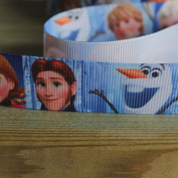 Disney themed Frozen grosgrain ribbon for hair bows,cake decorating,card making etc