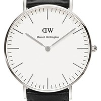 Daniel Wellington 'Classic Sheffield' Leather Strap Watch, 36mm