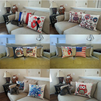 """Stylish 18"""" x 18"""" Decorative Accented Throw Pillow Case Covers Home Sofa"""