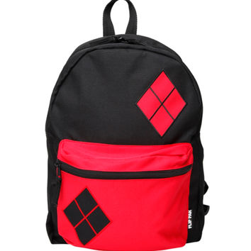 DC Comics Harley Quinn Comic Color Block Reversible Backpack