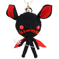 Woollen Yarn Angry Little Devil Keyring