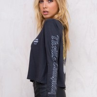 Thrills Eagle Crop Long Sleeve Tee