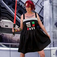 Darth Vader Star Wars inspired costume Cosplay Dress w straps prom