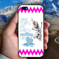 Olaf Disney Frozen Olaf Quote - Print on hard plastic case for iPhone case. Select an option