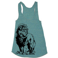 Womens Lion Professor TriBlend Racerback Tank Top by lastearth