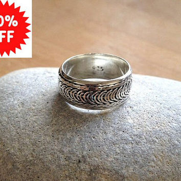 Sterling Silver Spinner Ring Thumb Ring UK Shop - 20% OFF -