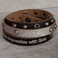 Good Work(S) Hope Mineral Wrap Bracelet