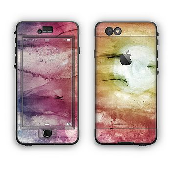 The Pink-Yellow-Blue Grunge Painted Surface Apple iPhone 6 LifeProof Nuud Case Skin Set