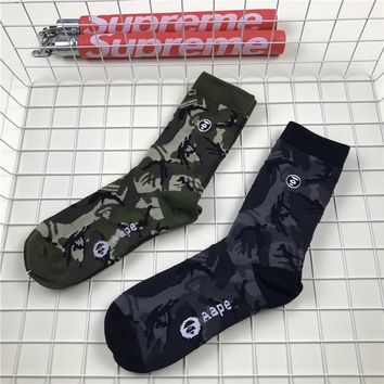 BAPE Skateboard Cotton UNISEX Socks [11529801036]