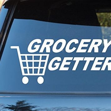 Grocery getter car window windshield lettering decal sticker decals stickers drift dub