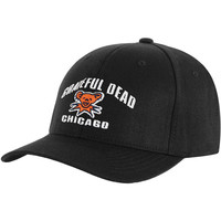 Grateful Dead Men's  Soldier Field 7/9/95 Baseball Cap Black