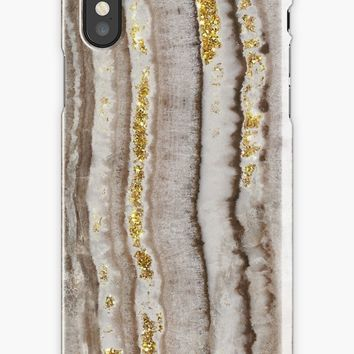 'Elegant gem stone and gold chic marble pattern' iPhone Case by Quaintrelle