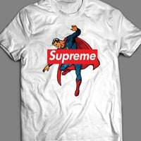 VINTAGE SUPERMAN COMIC ART SUPREME T-SHIRT