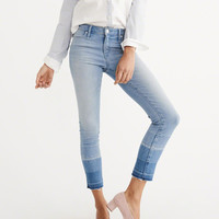 Womens Let Down Hem Ankle Jeans | Womens New Arrivals | Abercrombie.com