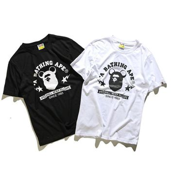 'BAPE' Short Sleeve Print Cotton T-shirts [211446136844]
