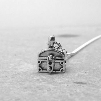 Treasure Chest Necklace, Sterling SIlver