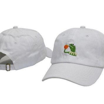 ESBONHS Dad hat 2017 for men Drake Daddy caps KERMIT NONE OF MY BUSINESS UNSTRUCTURED DAD HATS FROG TEA LEBRON JAMES NEW casquette