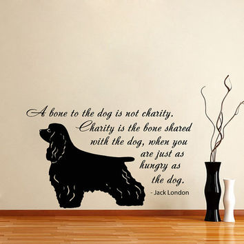 Vinyl Decal Quote About Dog Cute Animal Puppy Pet Shop Housewares Home Wall Art Decor Stylish Sticker Unique Design for Any Room V562