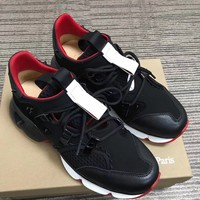 christian louboutin  Men Casual Shoes Boots fashionable casual leather