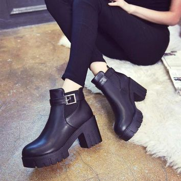 ca PEAPTM4 Dr. Martens Winter With Heel Round-toe England Style Shoes [11144747399]