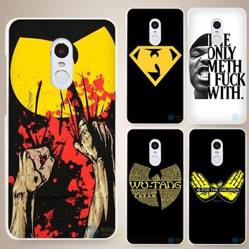 Wu Tang Clan Hip Hop Rap Band Hard White Cell Phone Case Cover for Xiaomi Mi Redmi Note 4 Pro 4A 4C 4X 5X 5 6
