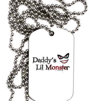 Daddys Lil Monster Adult Dog Tag Chain Necklace