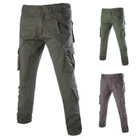Casual Multi Pocket Semi Fit Cargo Pants