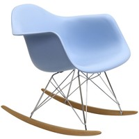 Modern Avant Rock Chair, Baby Blue