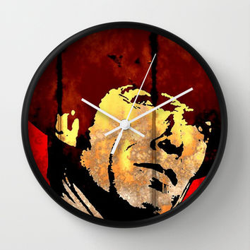 CLINT EASTWOOD-RUSTED METAL Wall Clock by The Griffin Passant