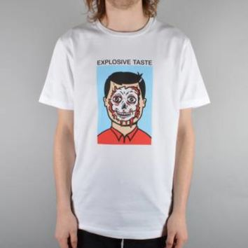 Polar Skateboards Jacobs Corner Explosive Taste T-Shirt - White - Polar Skateboards from Native Skate Store UK