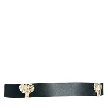 Liquorish Spaced Elephant Head Belt -