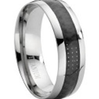 Men's Black Tungsten & Titanium Wedding Bands Ring