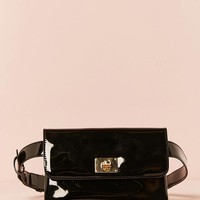 Faux Patent Leather Fanny Pack