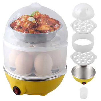 electric Mini Egg Cooker Boiling stainless steel disc food egg steamer