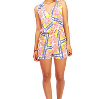 Scattered Surplice Romper