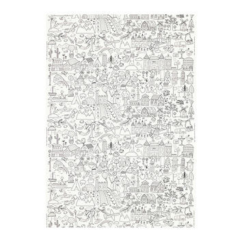 TIDNY Fabric, white, black - IKEA