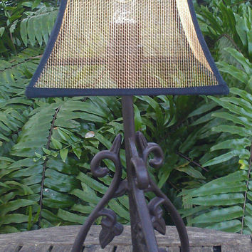 Chandelier Lamp Shade Black Gold Industrial  Contemporary Modern Decorative Minimalist Bronze Screen Bell Frame Black Grosgrain Ribbon Trim